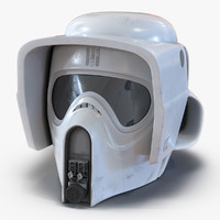 3d scout trooper helmet