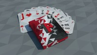 free deck playing cards ultimate 3d model