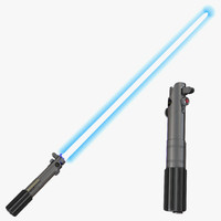 3ds max luke skywalker lightsaber set