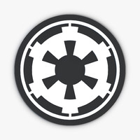 star wars empire logo 3d model