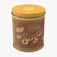 3ds max vintage kitchen tin sugar