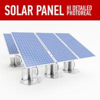 3d model of solar panel