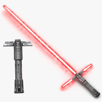 kylo ren lightsaber used 3d model