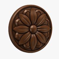 Round rosette 002 (Intagli 002)