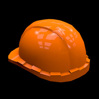 safety helmet low poly