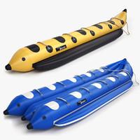 banana boats 3d max