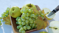 3d bowl fruits apples grapes model