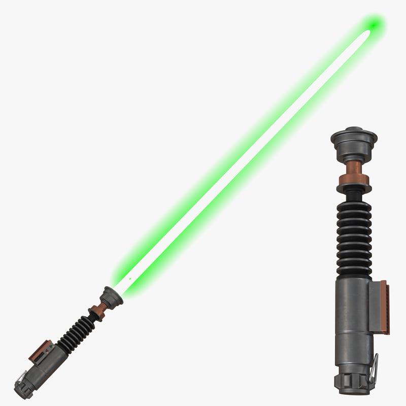 luke skywalker lightsaber 2 3d max