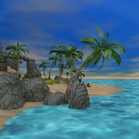 3ds max realistic tropical island