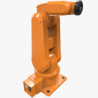 3d model industrial robot arm