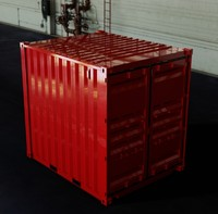 3d - 10ft iso shipping container