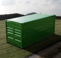 3d - 20ft iso shipping container model