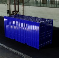 - 20ft iso shipping container 3d ige