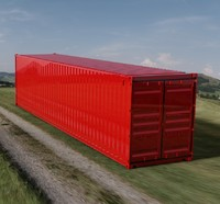 - 40ft iso shipping container 3d ige