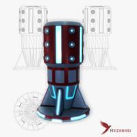 sci-fi force field generator 3ds