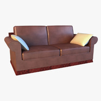 3d luxury leather sofa pillows