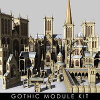 kit modules gothic 3d max