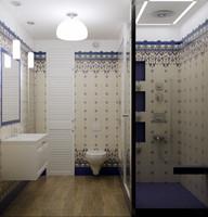 classical washroom 3d max