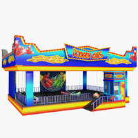 3d model bumper cars attraction