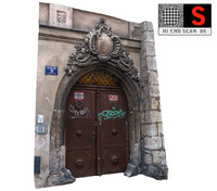 3d model old city gate 8k