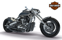 harley davidson - 02 3d model