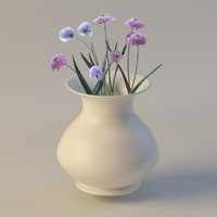 flowers vase 3d max