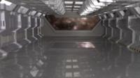 3d spaceship hangar