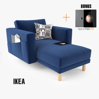 ikea morsborg chairse sofa seat 3d model