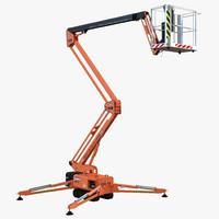 3d model telescopic boom lift orange