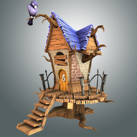 creepy house 3d obj