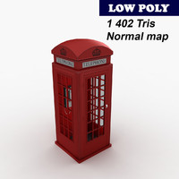 london telephone booth 3d 3ds