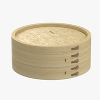 c4d large bamboo steamer