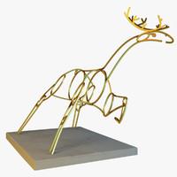 3ds statue deer