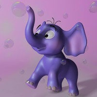 Cartoon Baby Elephant RIGGED