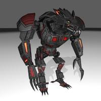 3d model of werewolf mech