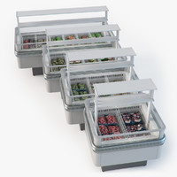 3d model fridges grocery product