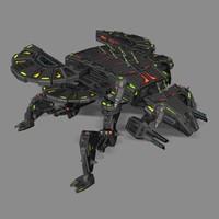 mechnarid sci-fi animations max