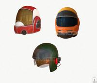 3d model sci-fi helmet pbr