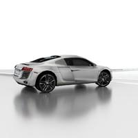 3d r8 car sport model