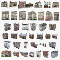 photorealistic european buildings set 3ds