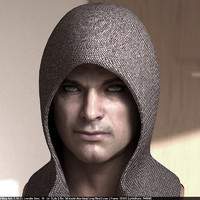 Human male head low poly v3