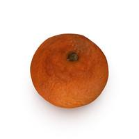 3d obj mandarin satsuma fruit