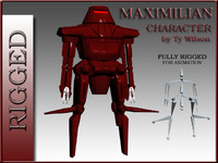 robot maximilian 3d max