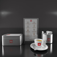Cafe Tableware Set - Illy Coffee