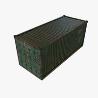 3d container ready model