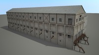 railway warehouse 3d max
