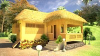 3d model tropical house