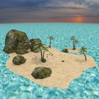 obj realistic island -
