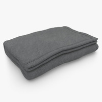 blanket fold dark gray max