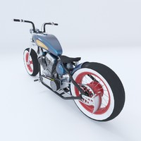 3d model of motorcycle bobber